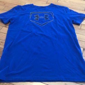 Boy's Under Armour blue baseball graphic t-shirt
